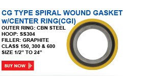 CG TYPE SPIRAL WOUND GASKET w/ CENTER RINGs
